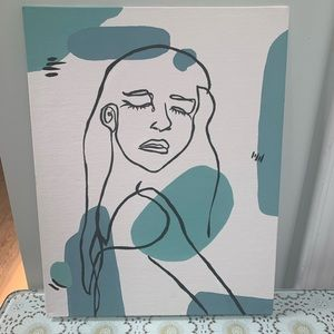 "Minimalist flat Canvas Acrylic Painting 11"" x 14"""